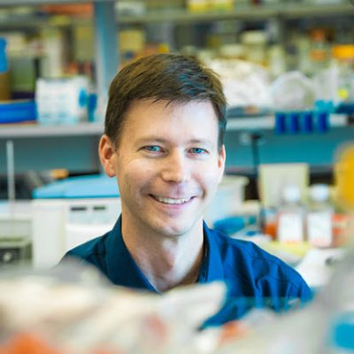 Dr. Tim Kieffer in his lab